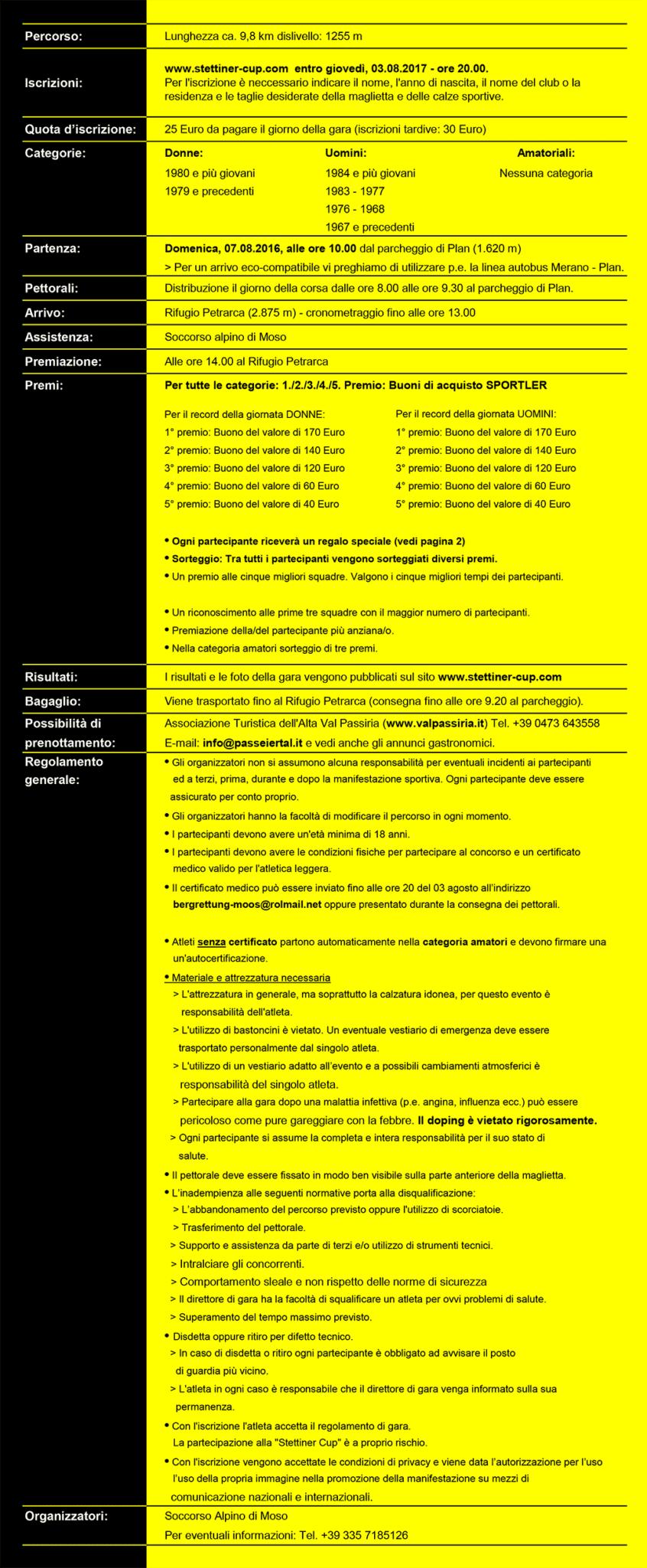 Rennablauf Reglement 2017 StettinerCup